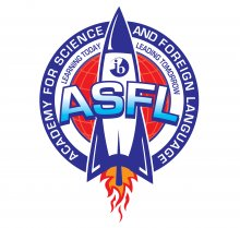 Academy for Science & Foreign Language rocket logo