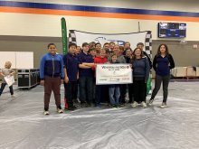 Challenger Middle Greenpower Teams receiving 1st place at Whitesburg 90s