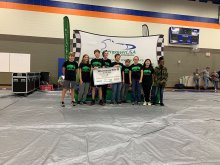 Mountain Gap Greenpower Team receiving first place award at Whitesburg 90s