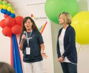 Stephanie Wieseman and Dawn Miller Present to Colleagues